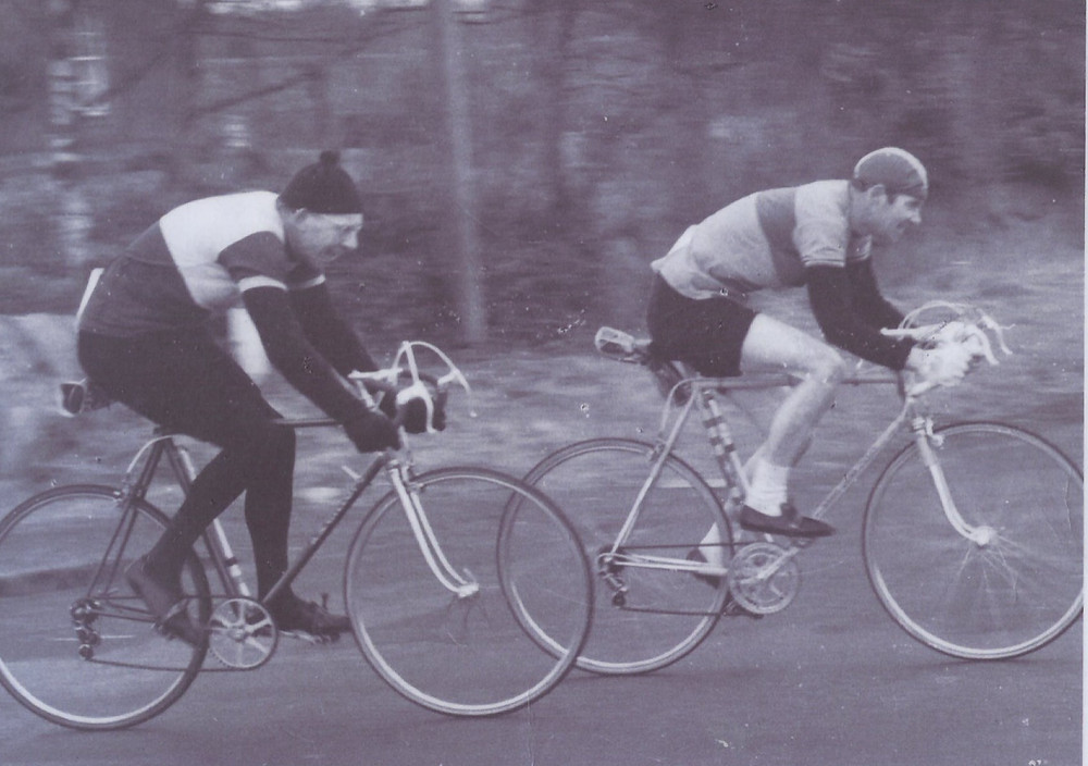 L to R: John Elder and Jack Murray racing in 1950's