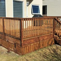 Deck Skirting and Railing