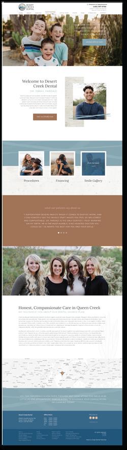Clear Creek Dentist Website