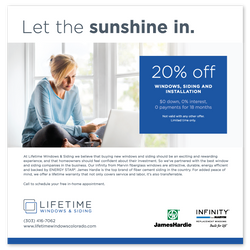 Lifetime Windows and Siding Advertisement