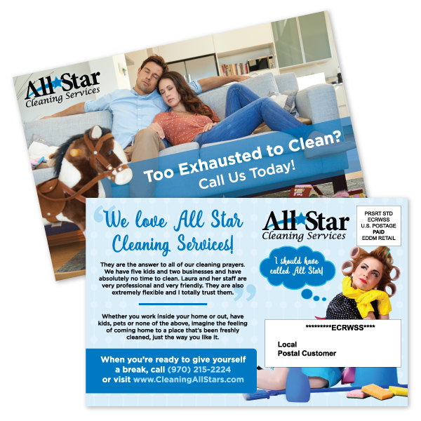 All Star Cleaning Postcard