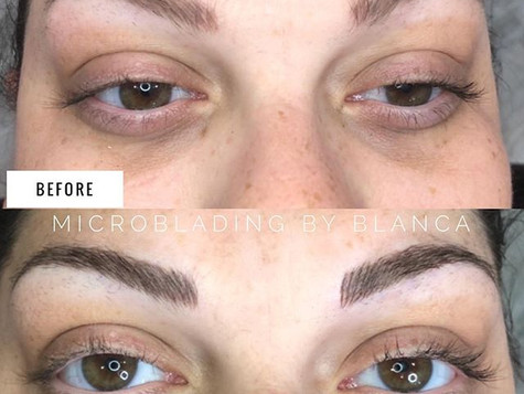 Before/After Microblading Eyebrows by Blanca