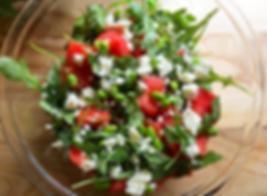 Lettuce lunch: watermelon, arugula, feta & edamame - protein boost