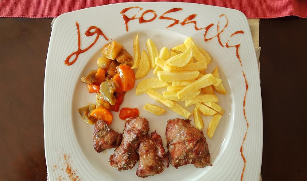 Pluma ibérica (carne de porco com batatas fritas) - Lanzarote, ilhas Canárias