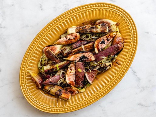Salada de figo e batata doce
