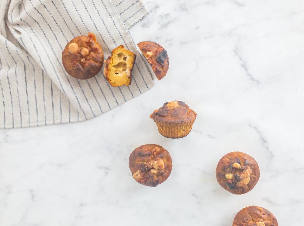 muffin de abóbora e provolone