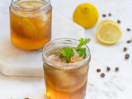 Whisky infusionado com café e tônica