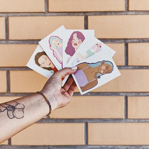 Pack Stickers (x5) Catarina Maça