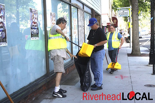 Mainstream Houe Cleans up the streets of Riverhead