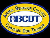 Animal Behavior College Certified Dog Trainer (ABCDT) Logo