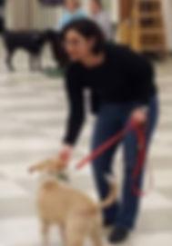 Asha giving pointers on polite leash walking.
