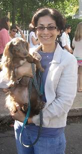 Asha Gallacher and her dog
