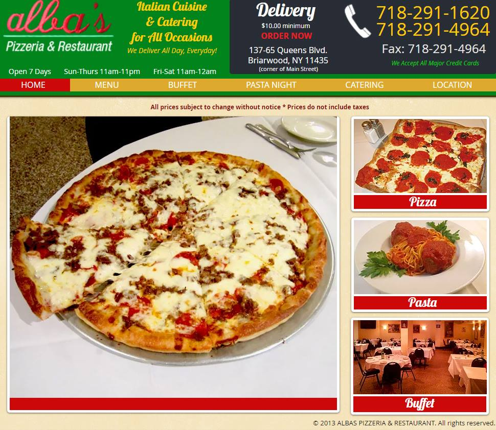 Albas Pizzeria and Restaurant