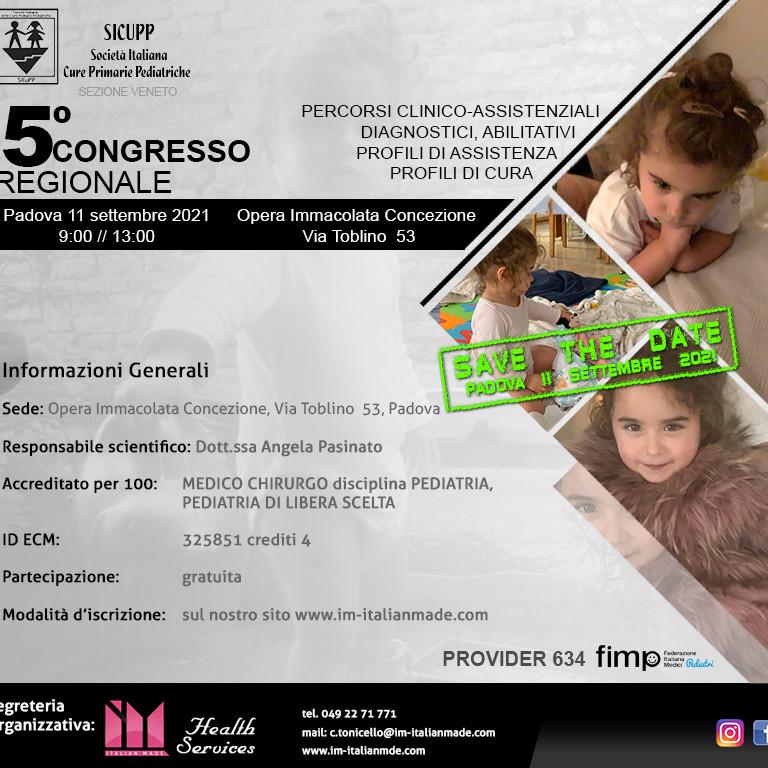 5° Congresso Regionale  SICUPP di Pediatria