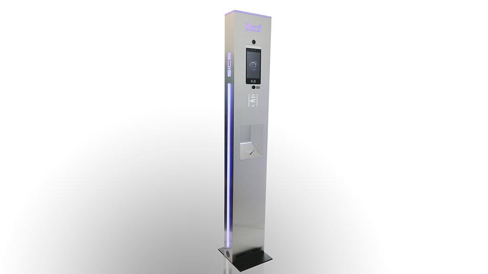 Tótem TCI SICS® para control de temperatura y sanitización de manos