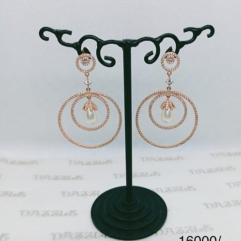 Silver dangling earings