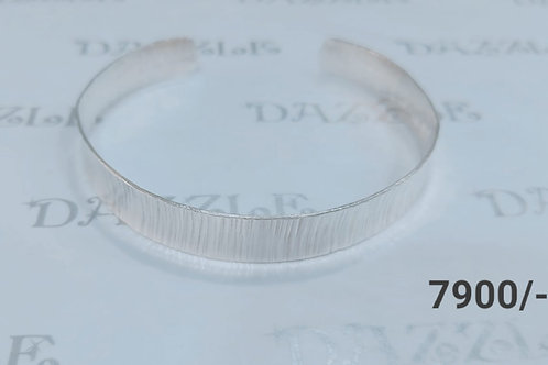 Silver plain bangle