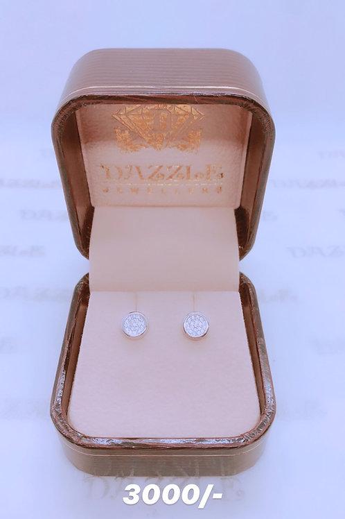 Silver earrings with zirconia