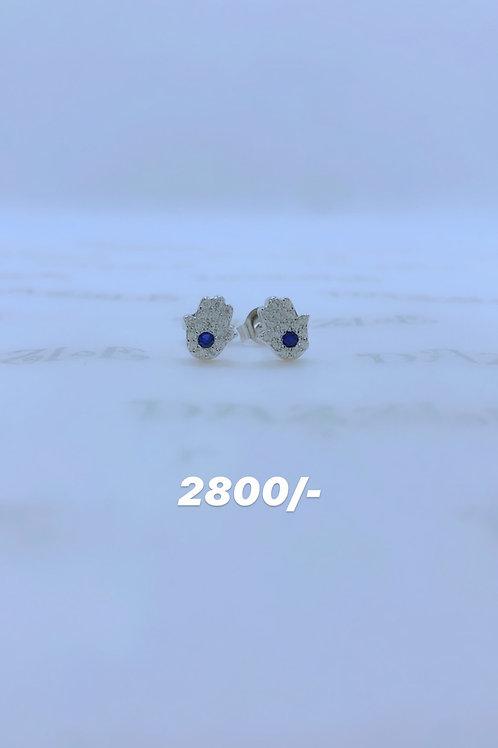 Hand of Hamsa earrings silver