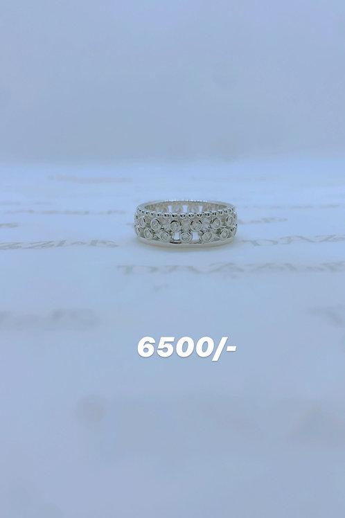 Silver 2-in-1 fancy ring