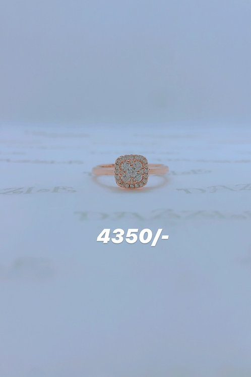 Rosegold plated silver ring