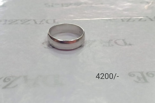 Simple plain band silver ring