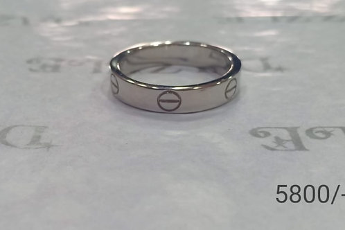 Silver band ring /catier design