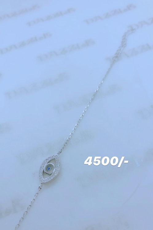 Silver evil eye bracelet