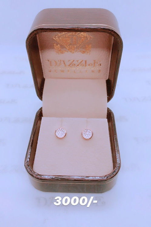 Silver Earrings with rosegold plating