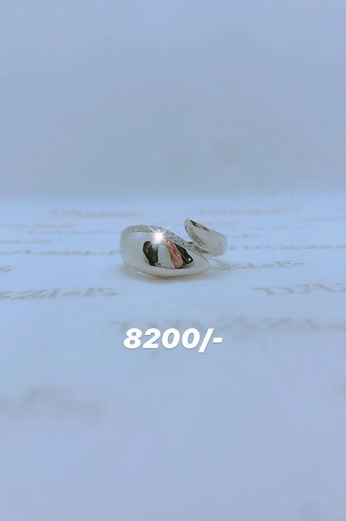 Silver fancy open ring