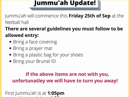 Jummah Salah is BACK