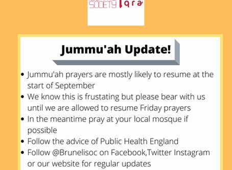 COVID 19 Jummah July Update
