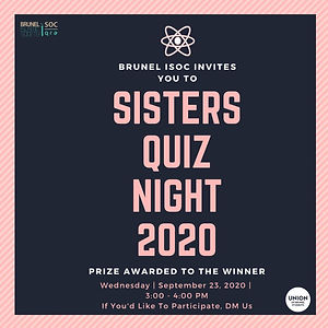 Sisters Quiz Night 2020