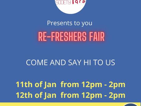 Re-Freshers Fair 2021