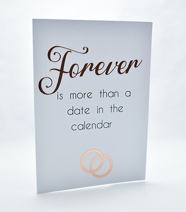 Forever wedding postponement card