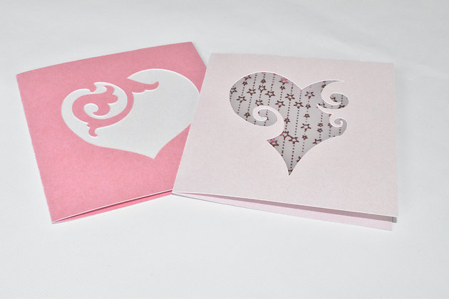 Twin Hearts mini Card