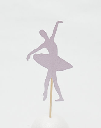 set of 4 ballet dancer muffin toppers