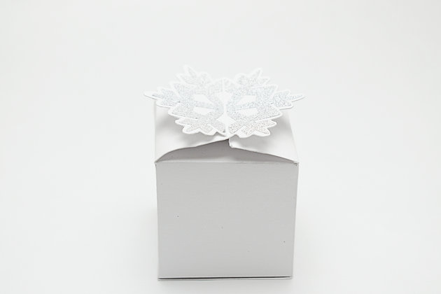 Snowflake cake box