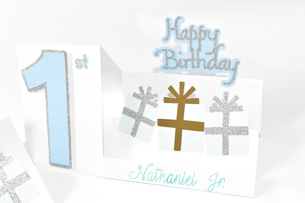 Numbered birthday card