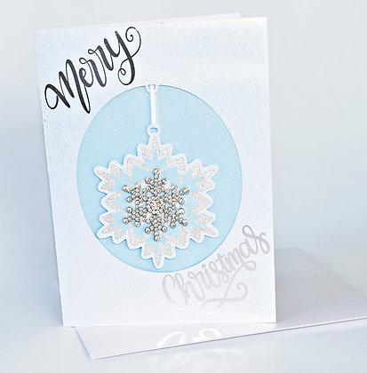 Hanging gem Christmas card
