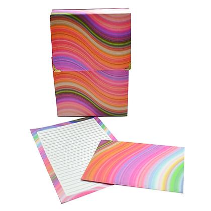 Rainbow swirl writing set