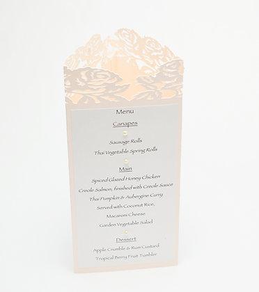 Rochelle - wedding menu /table number