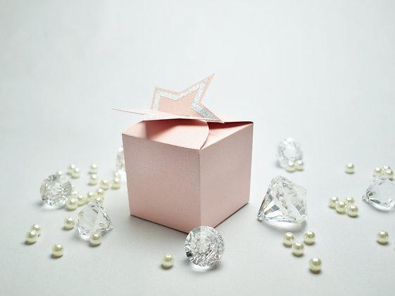 Star topper cake box
