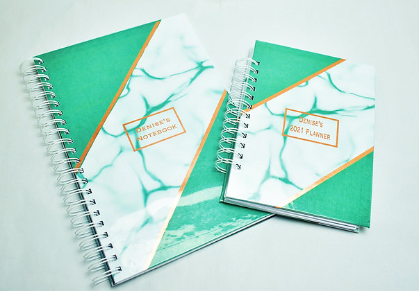 Planner and notebook combo