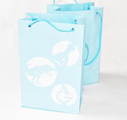 Dinosaur themed gift bag
