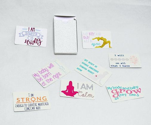 Pregnancy motivational cards/ Mantra cards