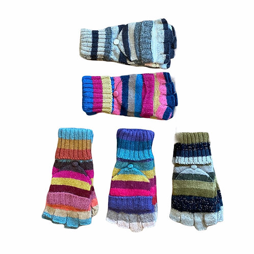 Wool Cosy Fingerless Mitten Gloves
