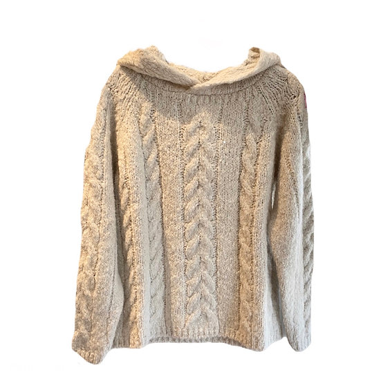 Hod Cable Knit Hooded Jumper
