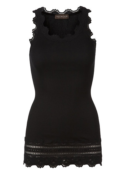 Rosemunde Black Vintage Lace Long Tank