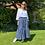 Thumbnail: Parisian Style Navy Print Maxi Skirt